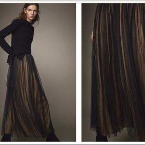 Massimo dutti evening collection black tulle skirt